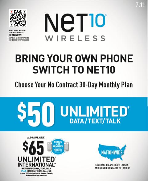 Net 10 Plans >> Net10 Brings Back The Unlimited