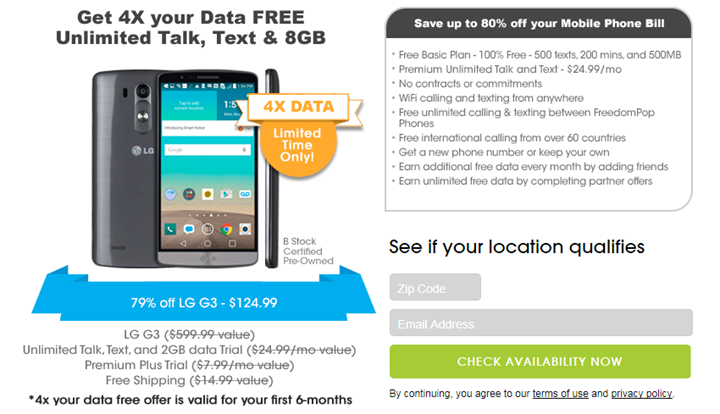 Freedompop phone specials